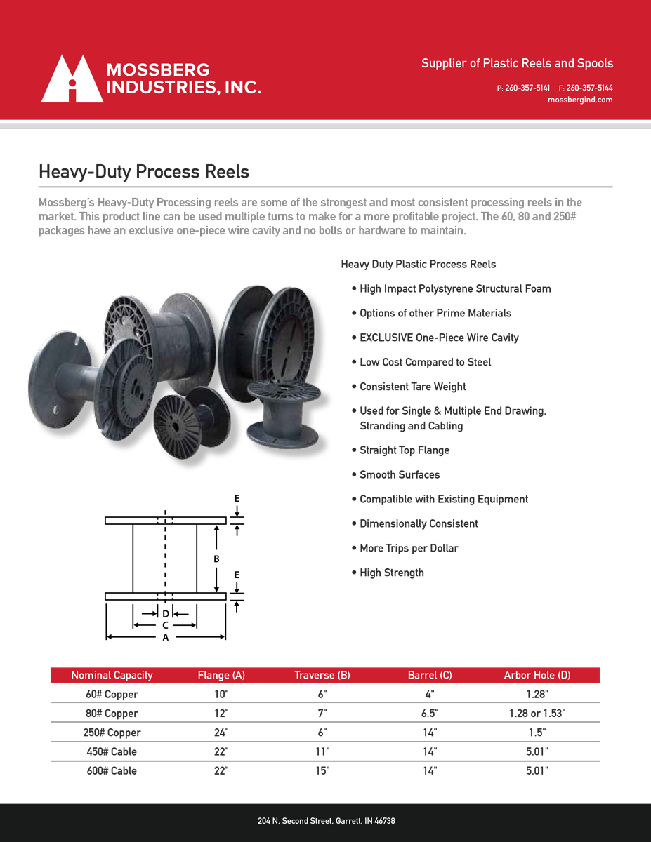 Mossberg Industries heavy duty processing