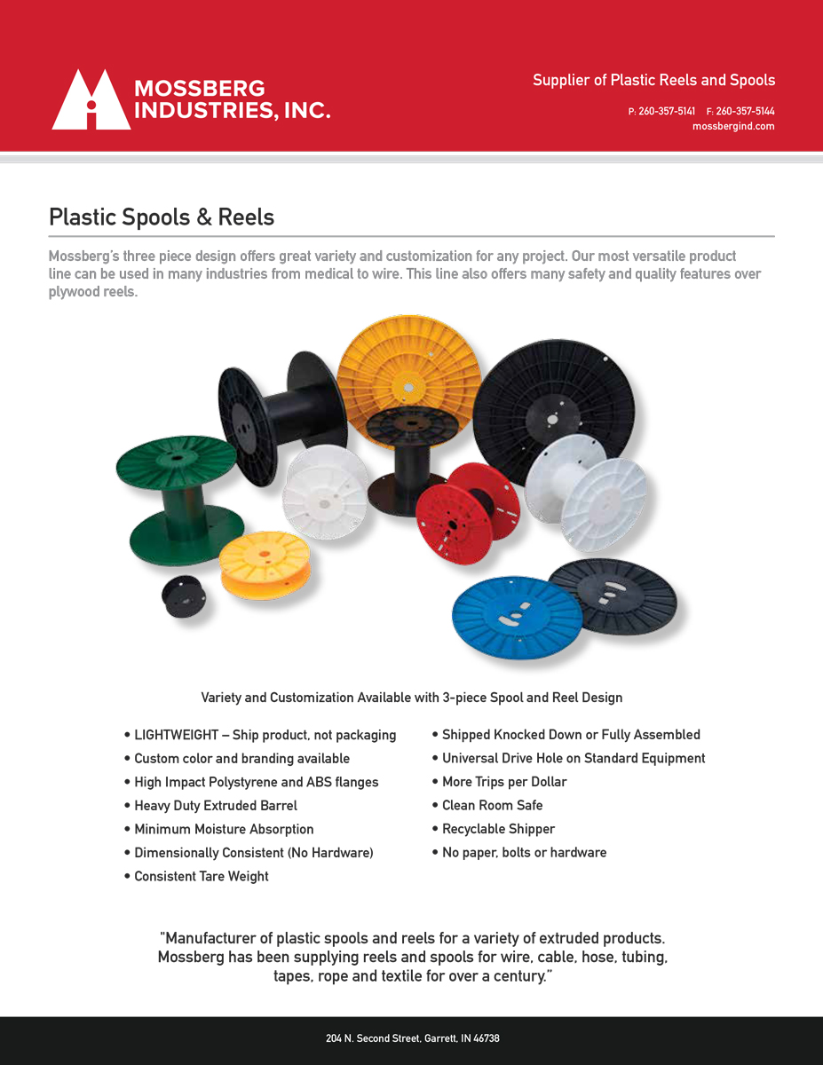 Mossberg Industries Plastic Spools Reels